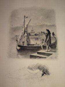 Paul-Émile BÉCAT (1885-1960) Gravure POINTE SECHE ORIGINALE CURIOSA EROTIQUE i