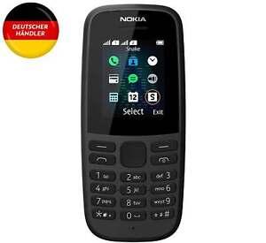 Nokia 105 Mobiltelefon, 1,8 Zoll Farbdisplay, FM Radio, 4 MB ROM & Dual-Sim Neu