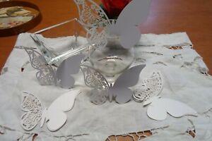 Farfalle Segnaposto Matrimonio.100 Farfalle Segnaposto Cm 11x7 Per Matrimoni Feste Party