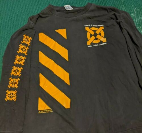 TYPE O NEGATIVE Shirt RARE VINTAGE XL Long sleeve