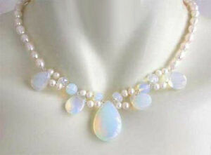 Cultured-7-8MM-White-Akoya-Pearl-amp-Blue-Fire-Opal-Opalite-Necklace-18-034