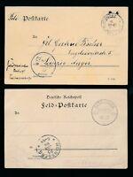 GERMAN SOUTH WEST AFRICA STATIONERY 1904 FELD POSTCARDS BETHANIEN +LUDERITZBUCHT