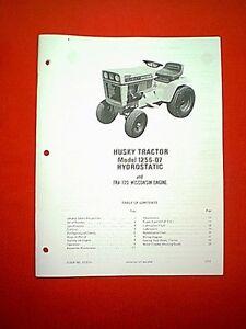 bolens husky hydro tractor model 1256 07 with wisconsin engine rh ebay com