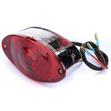 12V TAILLIGHT BRAKE LIGHT CATEYE CATS EYE FIT HARLEYS CHOPPER CUSTOM MOTORCYCLE