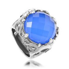 Stephen Webster Les Dents de la Mer Sterling Silver Blue Gemstone Cocktail Ring