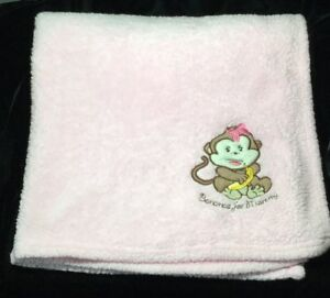 de0bbf7a41c06 SL Home Fashions RN 119741 Bananas For Mommy Monkey Blanket Pink ...