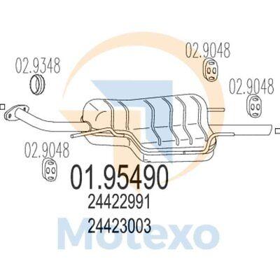 Amichevole Mts 01.95490 Scarico Vauxhall Astra G 1.4i 16v 90bhp 05/98 --