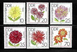GERMANY-DDR-SC-2022-2027-MINT-NO-HINGE-FLOWERS