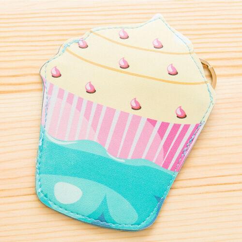 Creative Food Pattern PU Coin Change Purse Wallet Key Chain Handbag Ornament