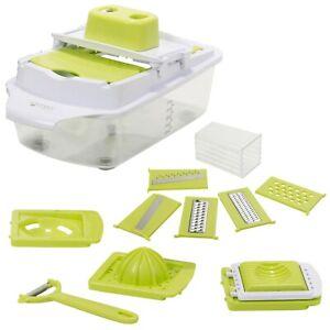 10-en-1-Mandoline-de-Cuisine-Nourriture-Fruit-Cutter-coupe-reglable-Lames-et-outils