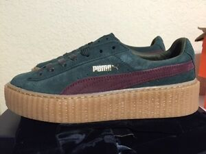 best loved 3e17e fb604 Details about Puma X Rihanna Suede Fenty Creepers Green Bordeaux Gum  Women's Size 361005-07