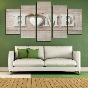 5pcs Living Room Canvas Home Sweet Love Heart Wall Decor Art Painting No Frame Ebay