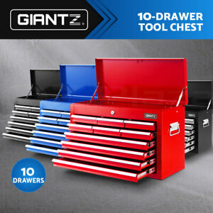 Giantz Tool Box 10 Drawers Chest Cabinet Trolley Boxes Garage Storage Toolbox