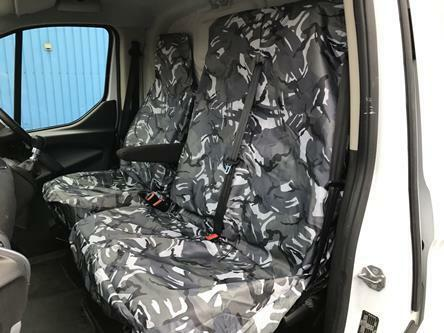 URBAN GREY CAMOUFLAGE Camo Van Seat Covers Double - Single Universal Fit