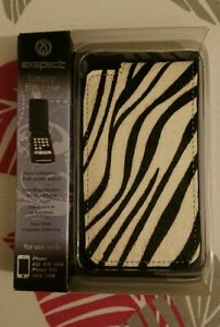 Exspect-Genuine-Leather-Flip-Case-for-iPhone-3G-3Gs-Black-leather-Zebra-print
