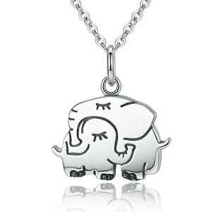 Mothers day sterling silver mother child elephant charm pendant image is loading mother 039 s day sterling silver mother child aloadofball Choice Image