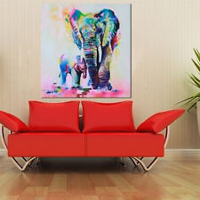 Modern Hand-painted Art Oil Painting Abstract Wall Decor Elephant on Canvas A