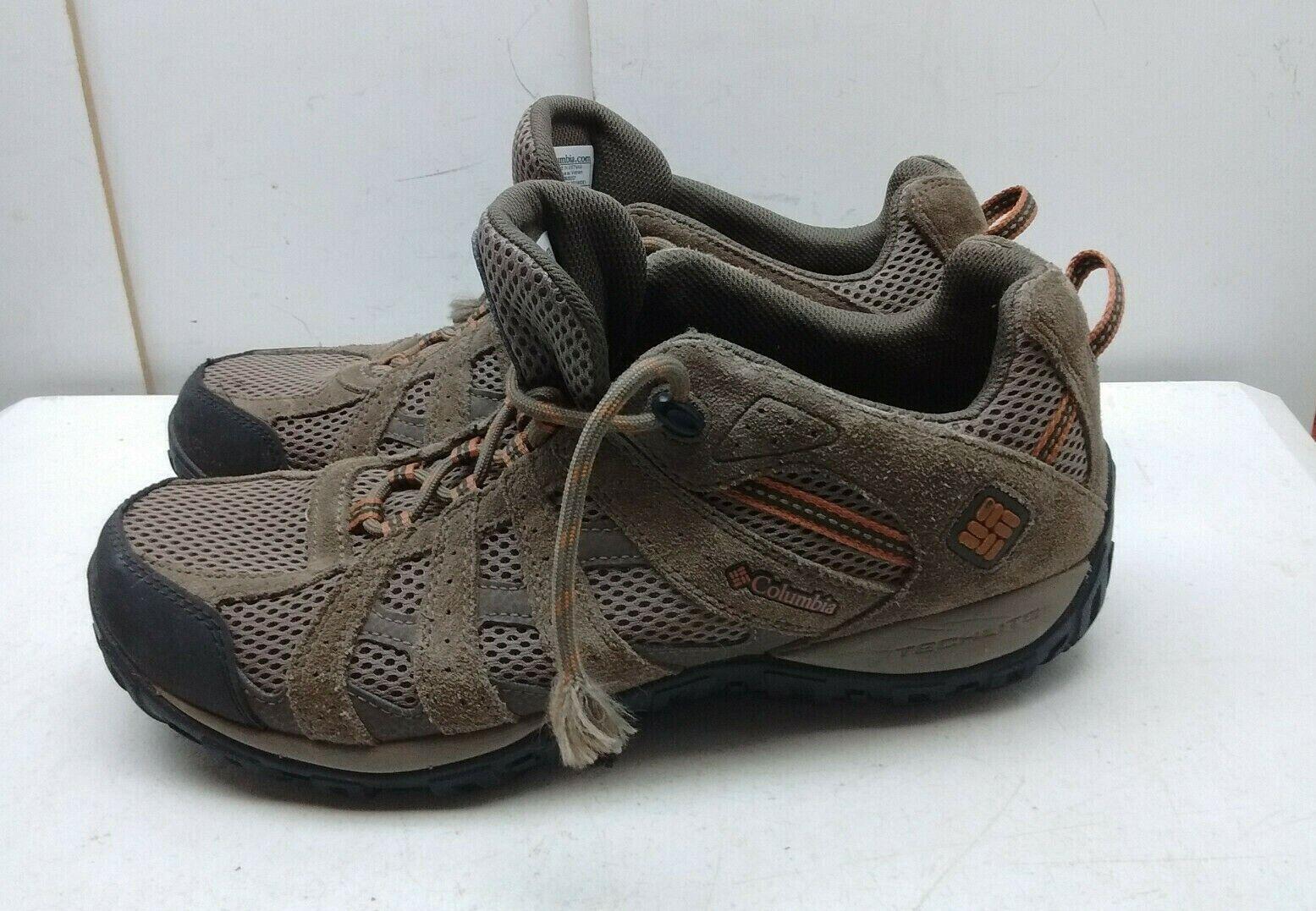 Columbia Luz Marrón Cuero Con Cordones Zapatillas Zapatos Para Hombre Senderismo Atléticos 11M 44