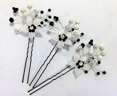 1 2 O 3 E Diamante Fiore & Swarovski Elemento Capelli Pin Set Sposa Damigella D'onore Prom-mostra Il Titolo Originale Carino E Colorato