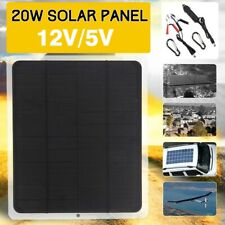 20w Solar Panel 12v Trickle Charge Battery Charger Maintainer Marine Rv Car E