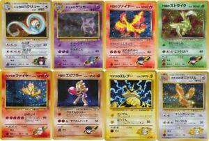 Pokemon Gym Challenge rare cards Gengar Pidgeotto Jolteon Pinsir Muk etc CHOOSE