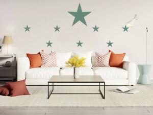Details zu Graz Design Wandtattoo 8 Große Sterne Wandaufkleber für  Wohnzimmer Set