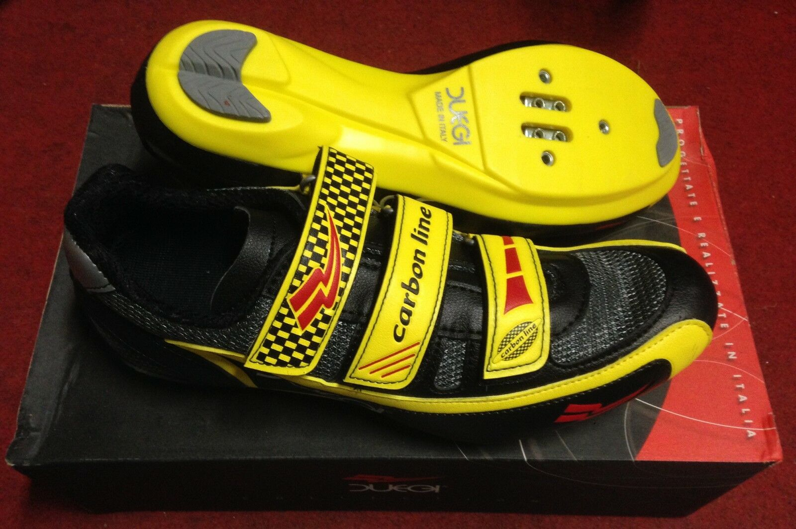 Scarpe bici corsa Duegi Carbon Line 3 road bike 39,41 scarpe 39,41 bike made in Italy e28bf3