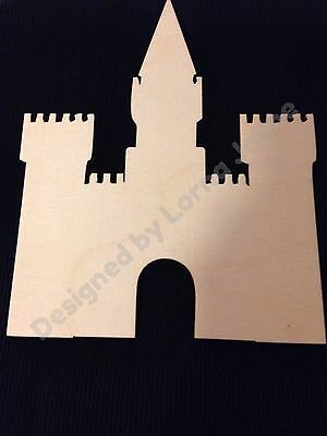 Wooden Castles Fairy, Princess, Knights - Laser Cut Pack Of 2