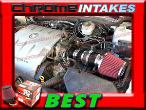 2000 2001 2002 CADILLAC ELDORADO ESC//ETC 4.6L V8 AIR INTAKE KIT Black Red