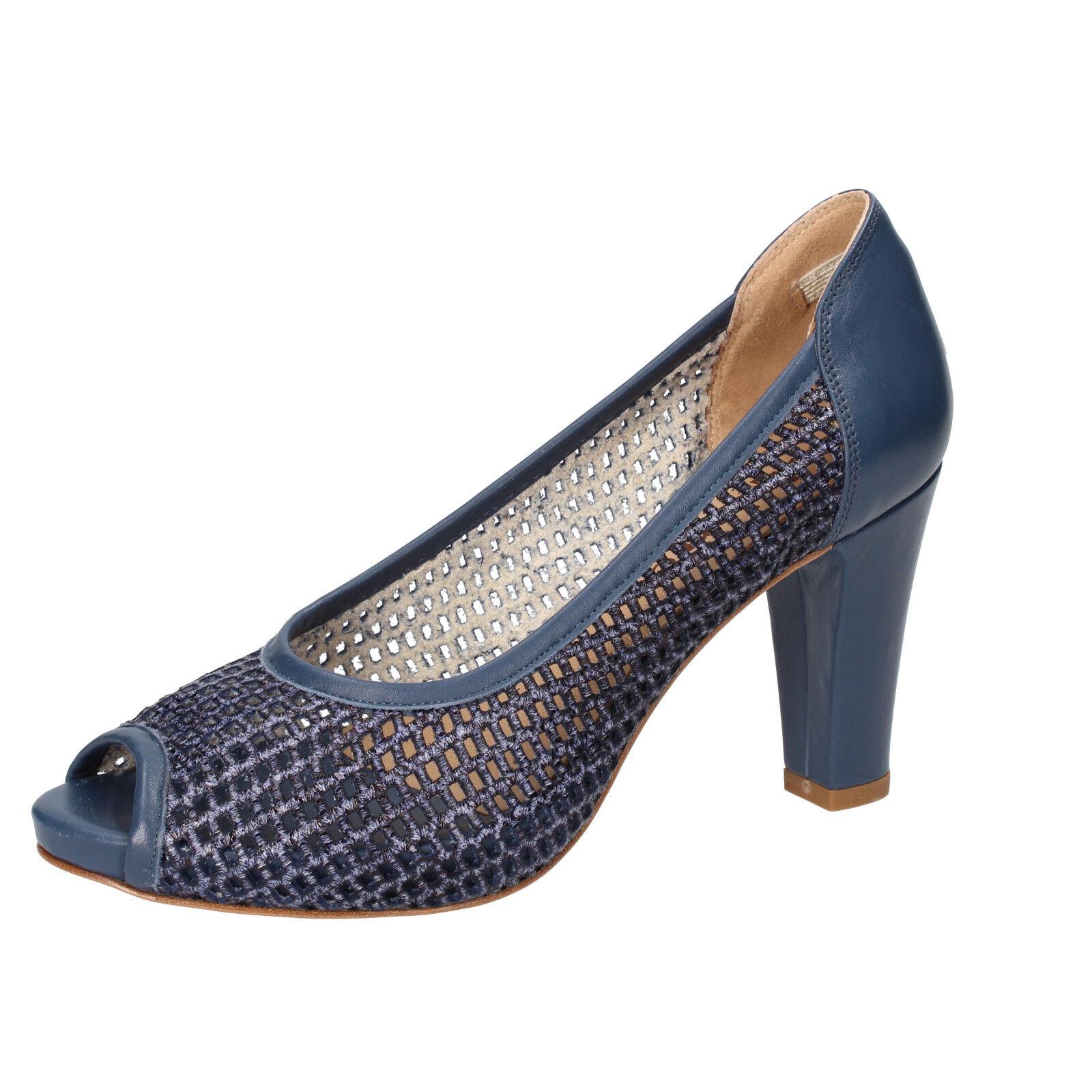 mujer zapatos Calpierre 35 Pumps azul Leather bz803-b