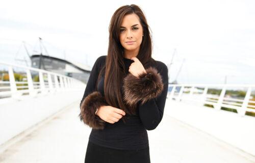Bridget Finn raton laveur fourrure pression sur les poignets