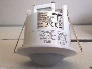 Plafoniere Con Sensore Di Presenza : Sensore di movimento da incasso 360° 220v lampade luci faro faretto