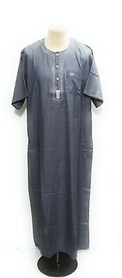 Men  Moroccan short sleeve thobe//jubba//kandorah.dishdash.thobes.size  62 only