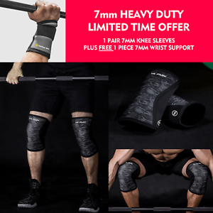 fae16d0f17 Knee Sleeves Patellar 7mm Support Wrist Wraps Sbd Crossfit Strongmen ...