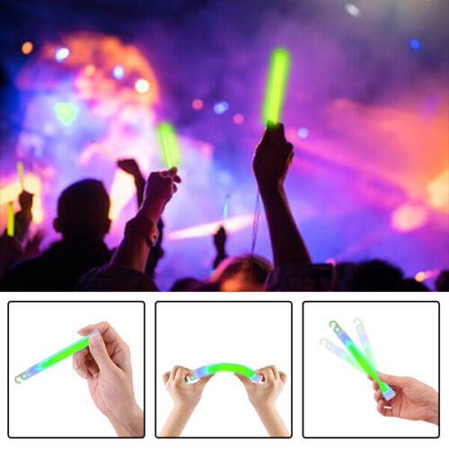Premium Large 15.2cm Long Thick Glow Sticks Neon Party Glow Wand Fixed or Bait