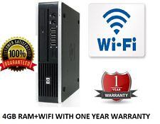 HP Compaq Elite 8000 USDT ultra slim per PC desktop Core 2 Duo 4GB DDR3-HDD 250 GB