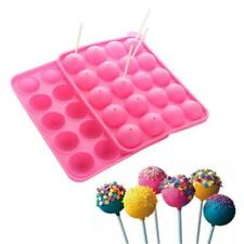 20 Holes Silicone Lollipop Pop Mold Baking Tray Cake Cookie Chocolate DIY Mould