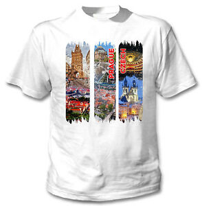 PRAGUE-CZECH-NEW-COTTON-WHITE-TSHIRT