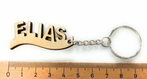 Lasergravieren Schlüsselanhänger aus Holz /'ELIAS/' graviert 5cm x 2cm