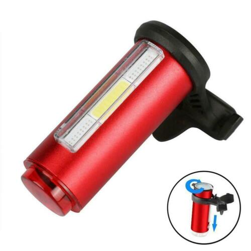 7 Modes COB LED Bicycle Bike Cycling Front Rear Tail Light USB Rechargeable LJ