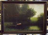 Sowa Kohler's Pig Framed Michael Sowa Poster Diving Pig When Pigs Fly