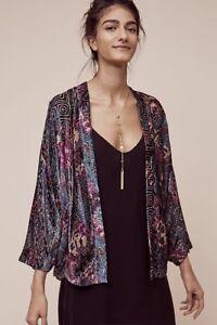 Jacket Xs Velvet Anthropologie Party Cocoon 118 Hokkaido s Elevenses Kimono Nwt YXBHqAx