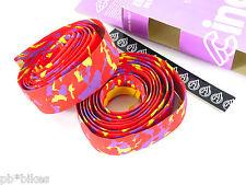 Cinelli handlebar tape cork vintage bike camouflage red purple yellow NOS