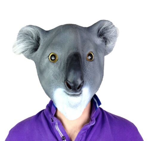 Overhead Latex Zoo Wild Safari Animal Masks Fancy Dress Stag Party Costume Mask