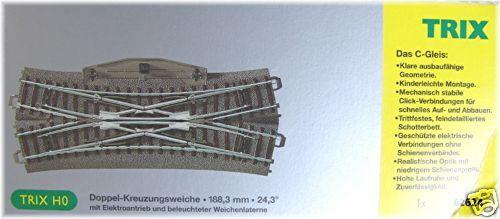 TRIX HO 62624 Doppio cambio a croce   1 pezzo   NUOVO conf. orig.