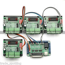 4 Axis TB6560 CNC Stepper Motor Driver Controller Board Kit,57 two-phase,3A.US