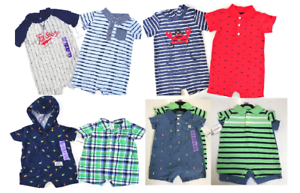 b61548e3fa78 NEW Carters Baby Boy 2 Piece Short Sleeve Rompers Set- (Variety)