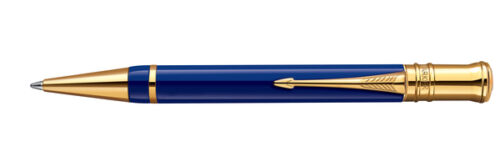 Parker-Duofold-Historical-Color-Lapis-Lazuli-Blue-Gold-Plated-Trim-Ballpoint-Pen
