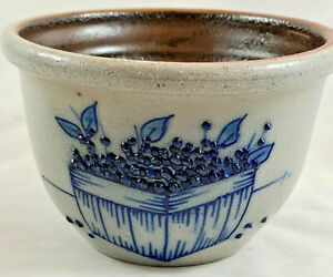 Vintage Salmon Falls Stoneware Cobalt Bowl 1991