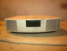 Bose Wave Radio AWR1-1W AM FM Aux Tuner Alarm Clock NO Remote White Home Audio $